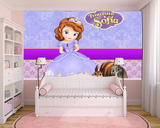 Papel de Parede Infantil Princesa Sofia  0014  - Paredes Decoradas
