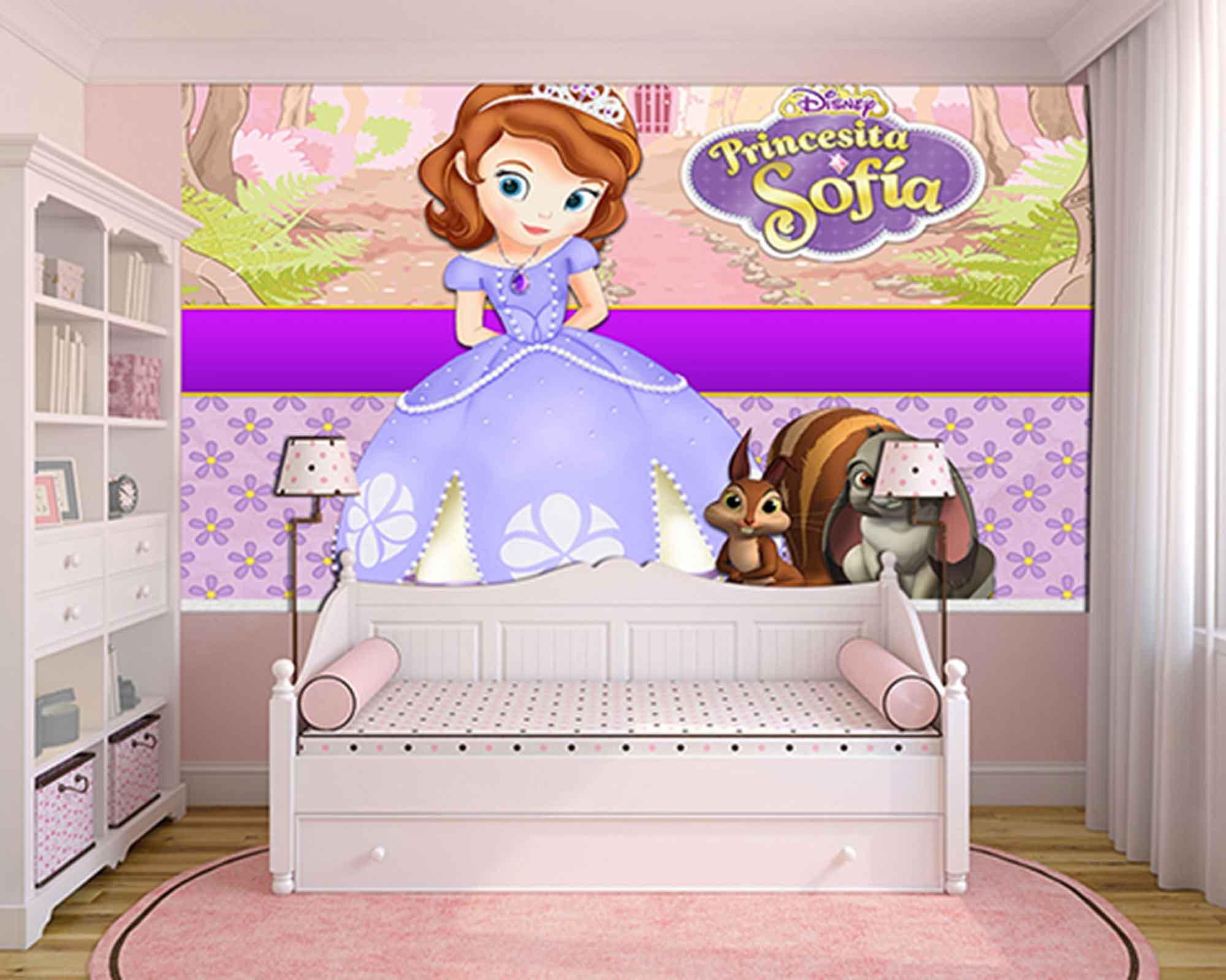 Papel de Parede Infantil Princesa Sofia  0015  - Paredes Decoradas