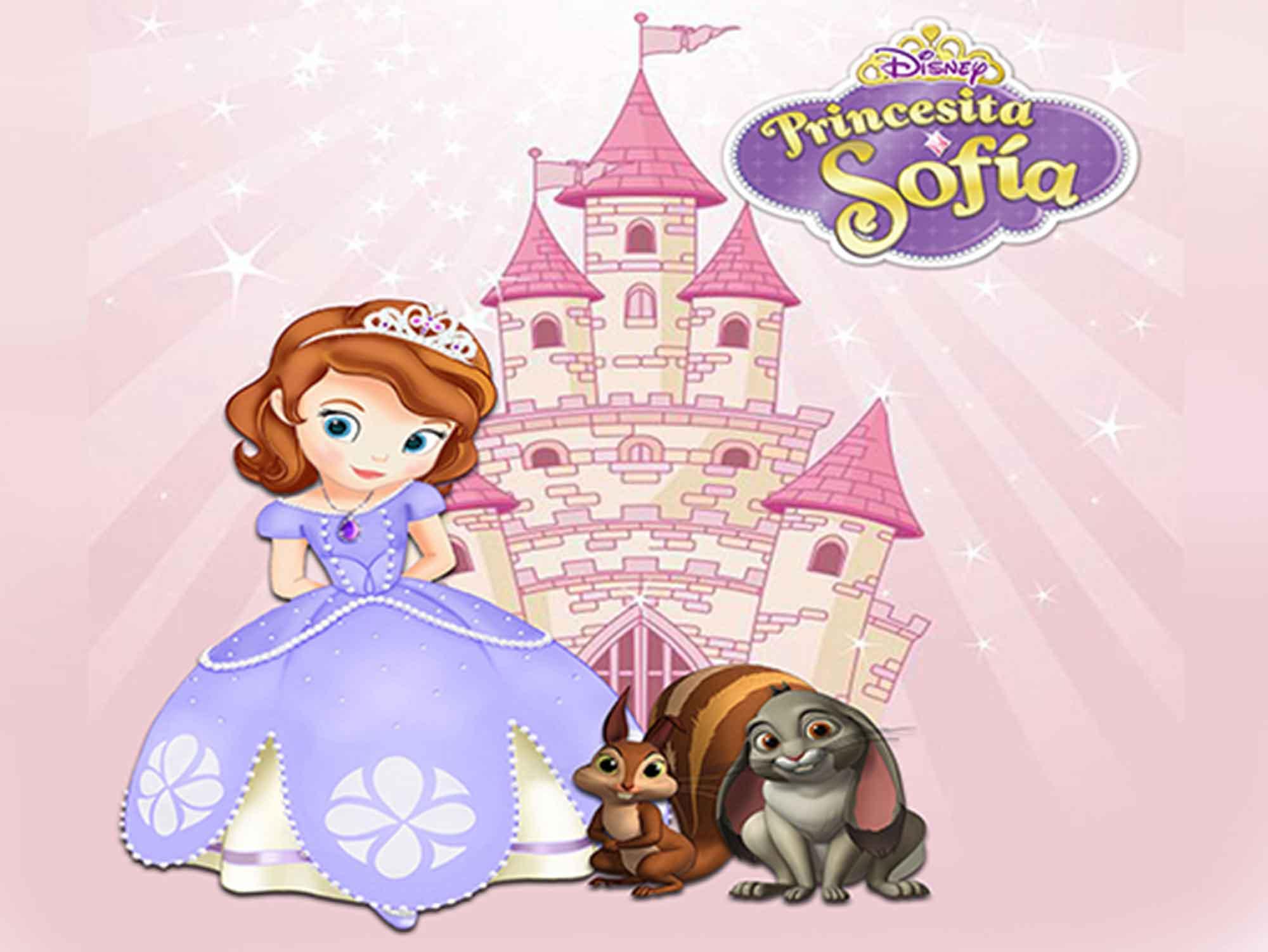 Papel de Parede Infantil Princesa Sofia  0016  - Paredes Decoradas