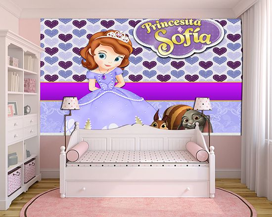 Papel de Parede Infantil Princesa Sofia  0018