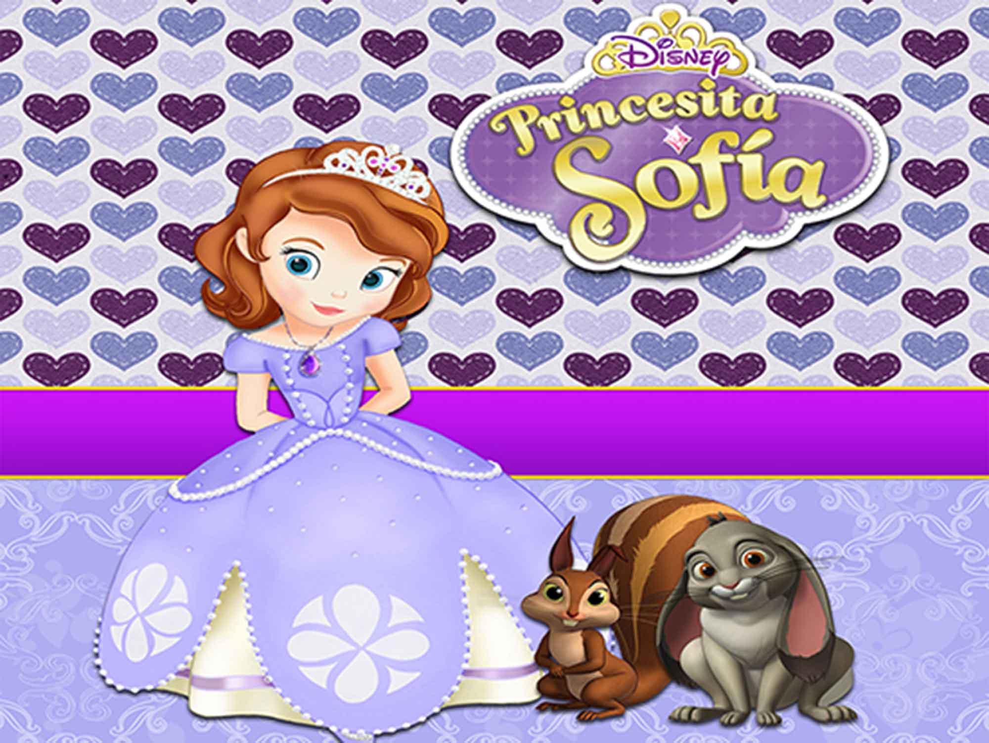 Papel de Parede Infantil Princesa Sofia  0018  - Paredes Decoradas