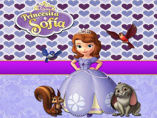 Papel de Parede Infantil Princesa Sofia  0019  - Paredes Decoradas