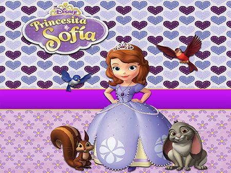 Papel de Parede Infantil Princesa Sofia  0020  - Paredes Decoradas