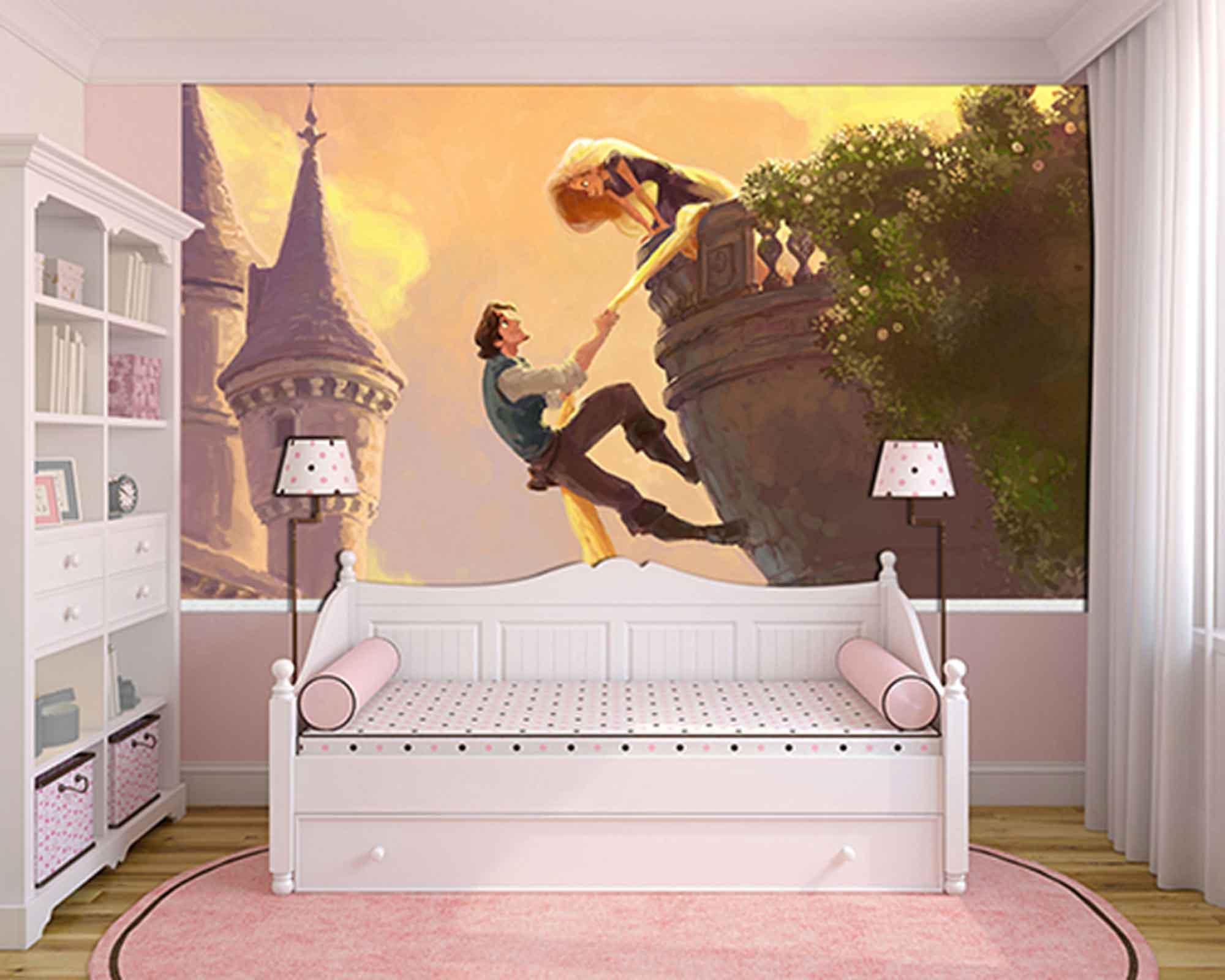 Papel de Parede Infantil Rapunzel  0001