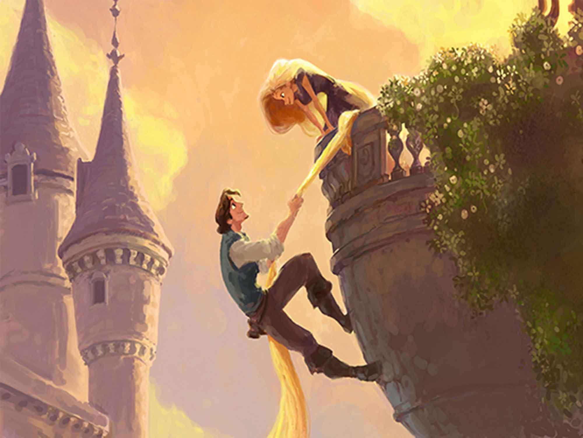 Papel de Parede Infantil Rapunzel  0001  - Paredes Decoradas