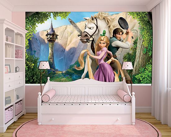 Papel de Parede Infantil Rapunzel  0002  - Paredes Decoradas