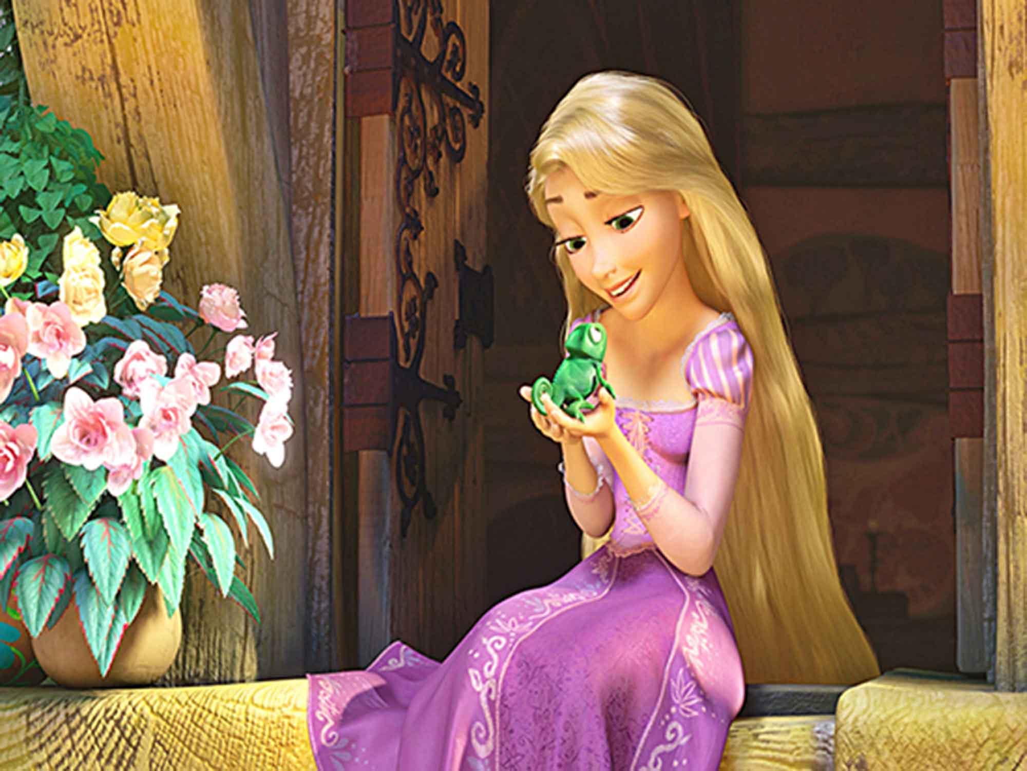 Papel de Parede Infantil Rapunzel  0003  - Paredes Decoradas