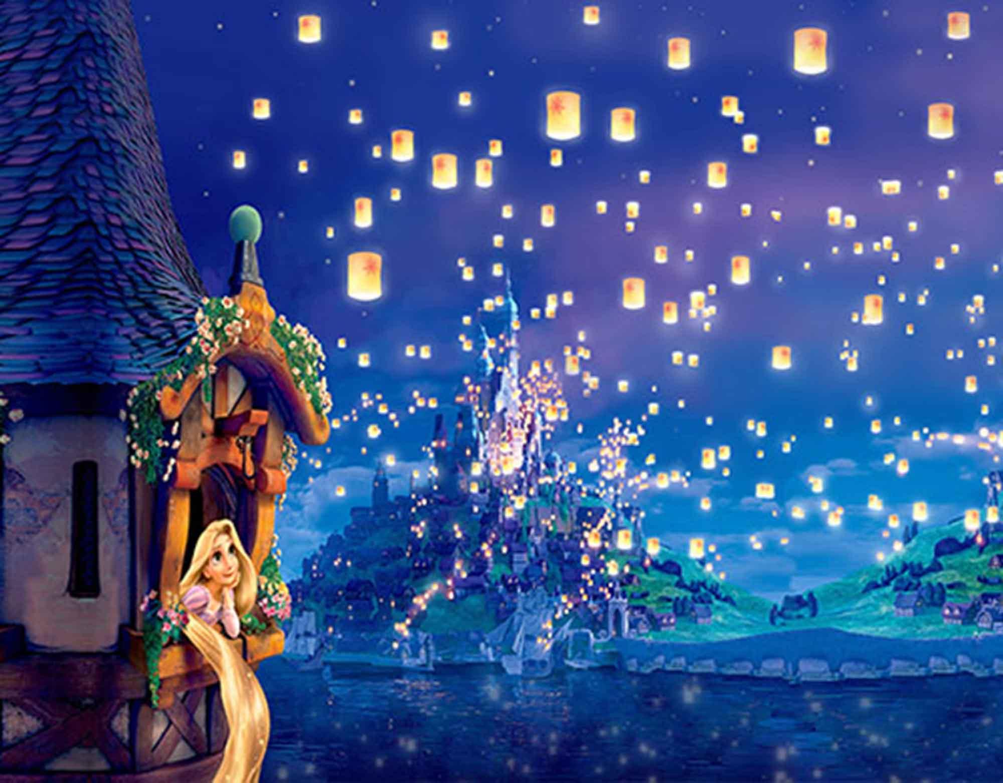 Papel de Parede Infantil Rapunzel  0005  - Paredes Decoradas