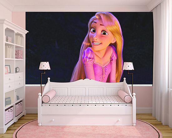 Papel de Parede Infantil Rapunzel  0007  - Paredes Decoradas