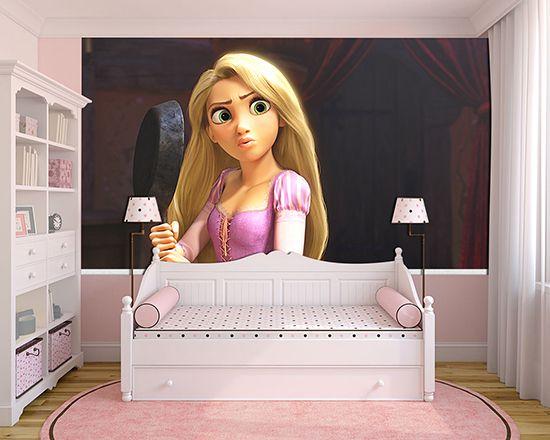 Papel de Parede Infantil Rapunzel  0008