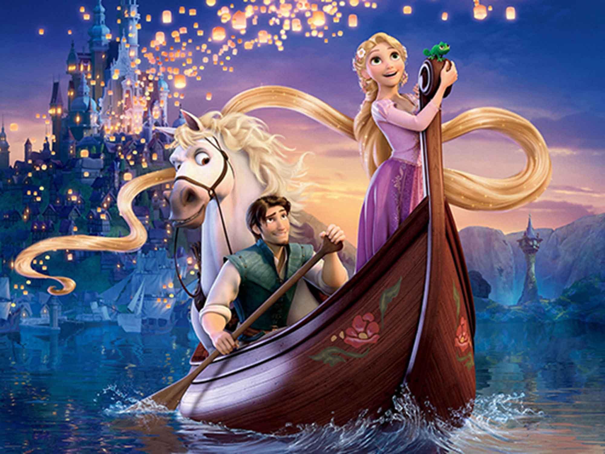Papel de Parede Infantil Rapunzel  0009  - Paredes Decoradas