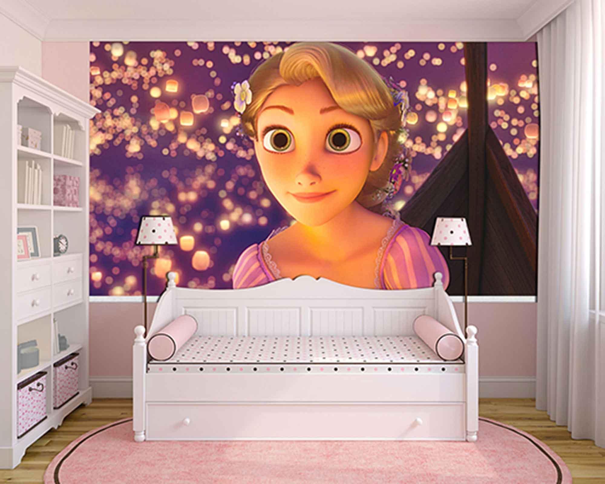 Papel de Parede Infantil Rapunzel  0010