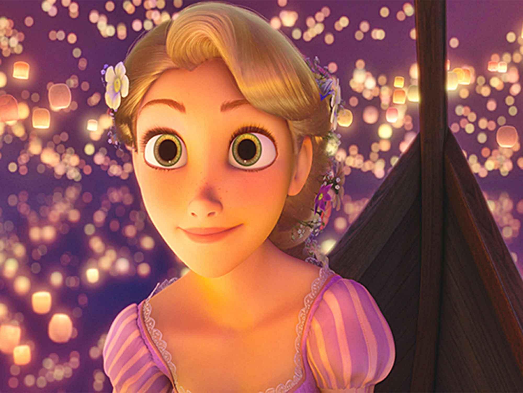 Papel de Parede Infantil Rapunzel  0010  - Paredes Decoradas