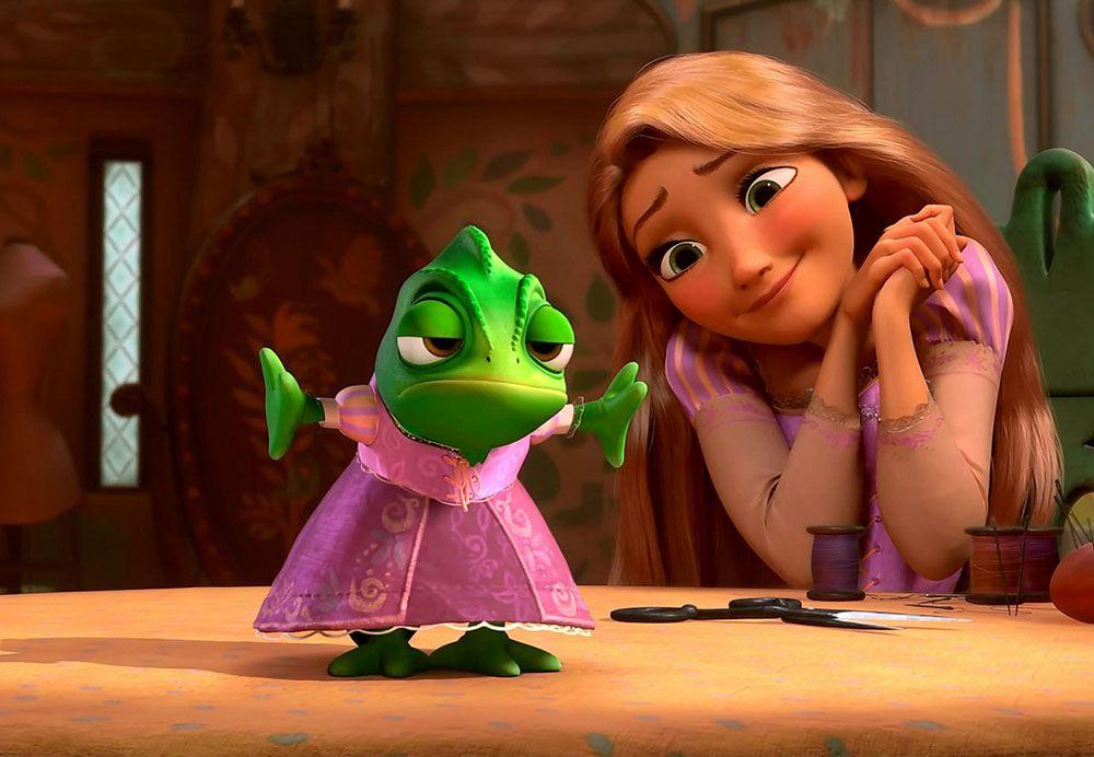Papel de Parede Infantil Rapunzel  0012  - Paredes Decoradas