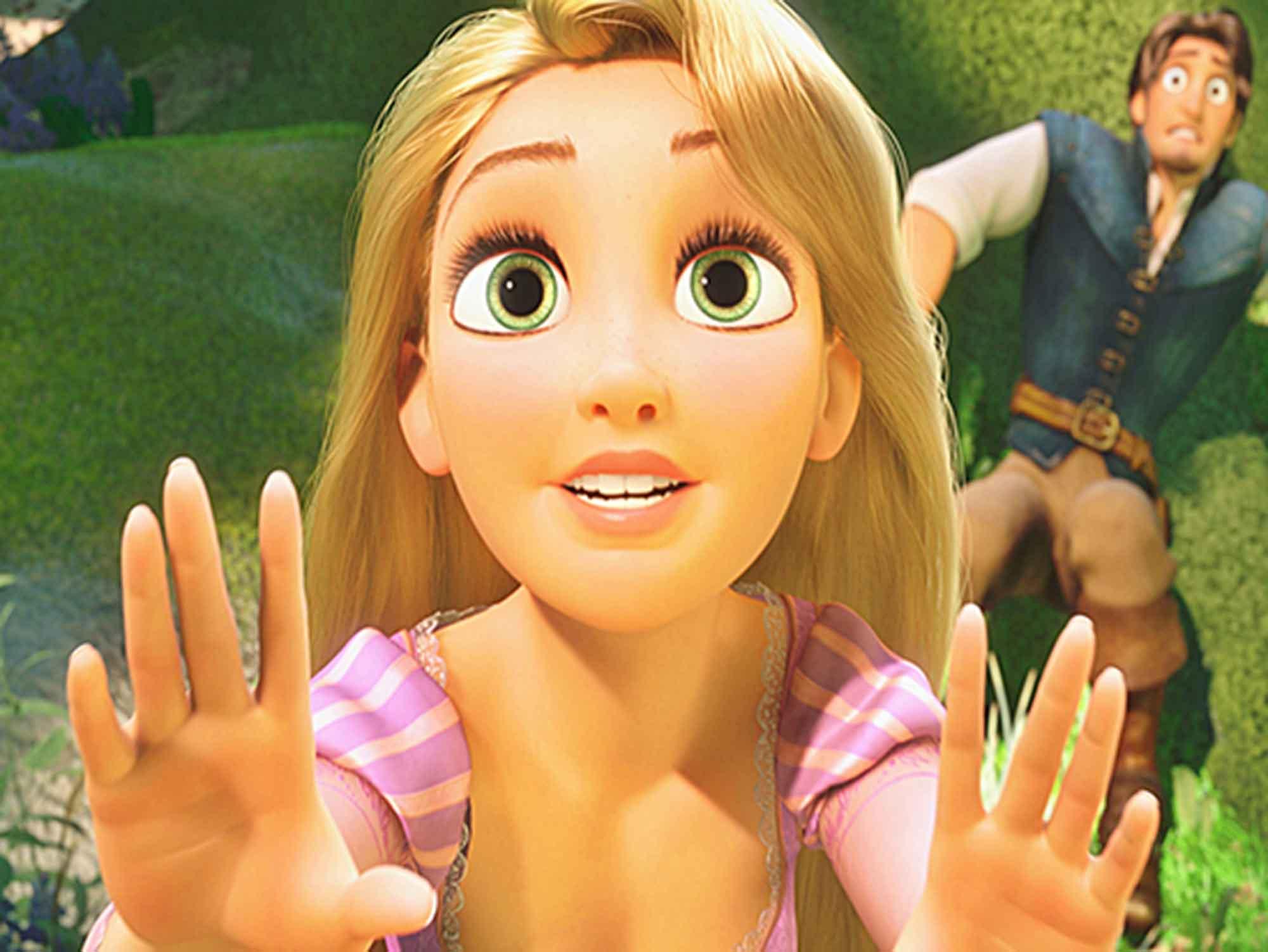 Papel de Parede Infantil Rapunzel  0013  - Paredes Decoradas