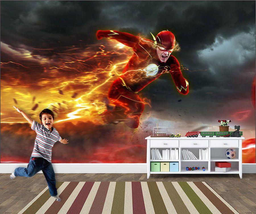 Papel de Parede Infantil Super Heróis 0002 -Adesivos de Parede