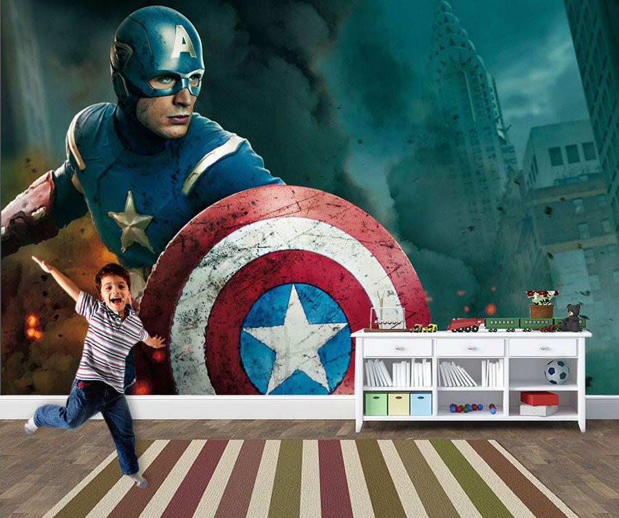 Papel de Parede Infantil Super Heróis 0004 -Adesivos de Parede