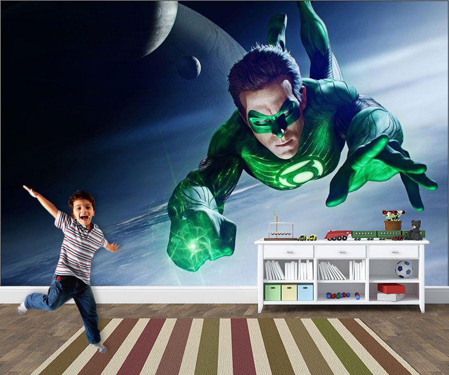 Papel de Parede Infantil Super Heróis 0011 - Adesivos de Parede  - Paredes Decoradas