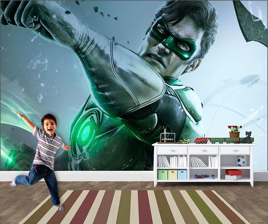 Papel de Parede Infantil Super Heróis 0013 - Adesivos de Parede  - Paredes Decoradas