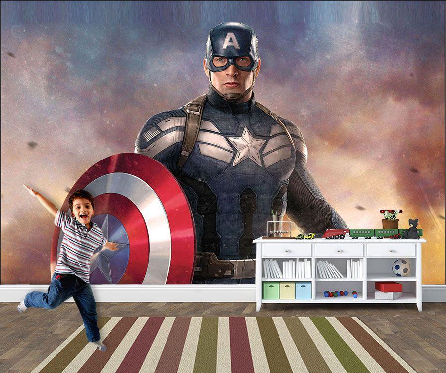 Papel de Parede Infantil Super Heróis 0015 - Adesivos de Parede  - Paredes Decoradas