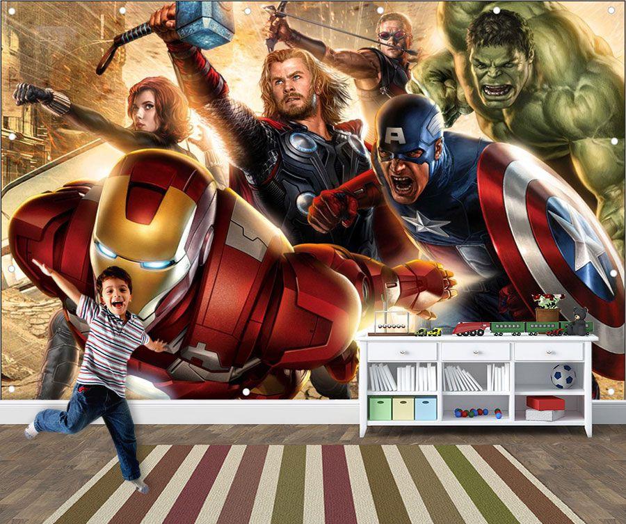 Papel de Parede Infantil Super Heróis 0016 - Adesivos de Parede
