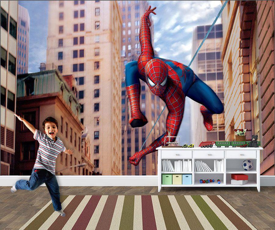 Papel de Parede Infantil Super Heróis 0017 - Adesivos de Parede