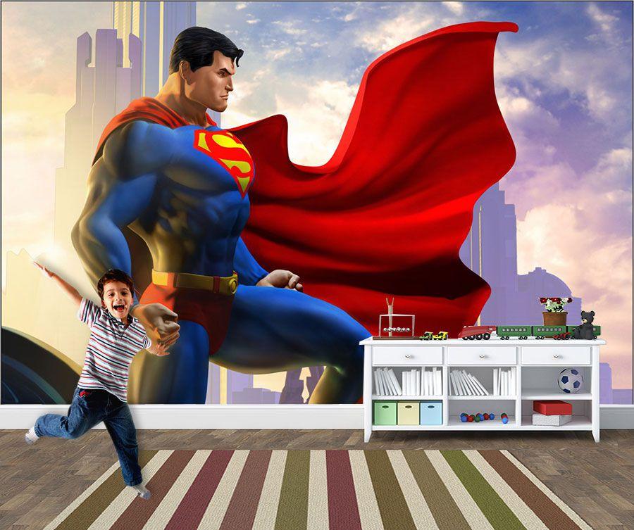 Papel de Parede Infantil Super Heróis 0018 - Adesivos de Parede