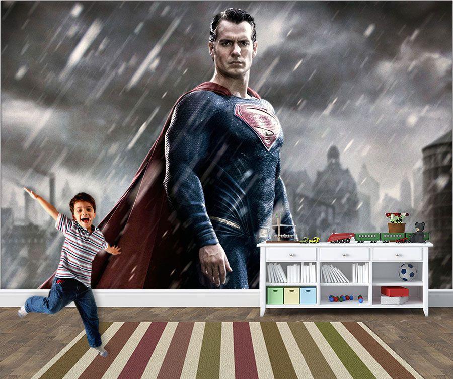 Papel de Parede Infantil Super Heróis 0019 - Adesivos de Parede  - Paredes Decoradas