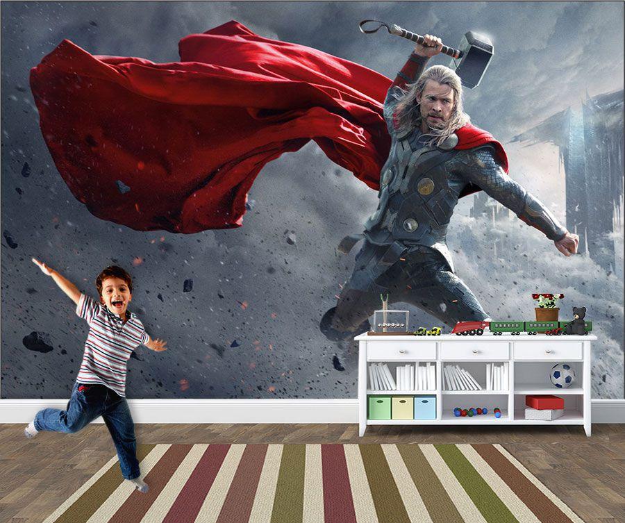 Papel de Parede Infantil Super Heróis 0022 - Adesivos de Parede