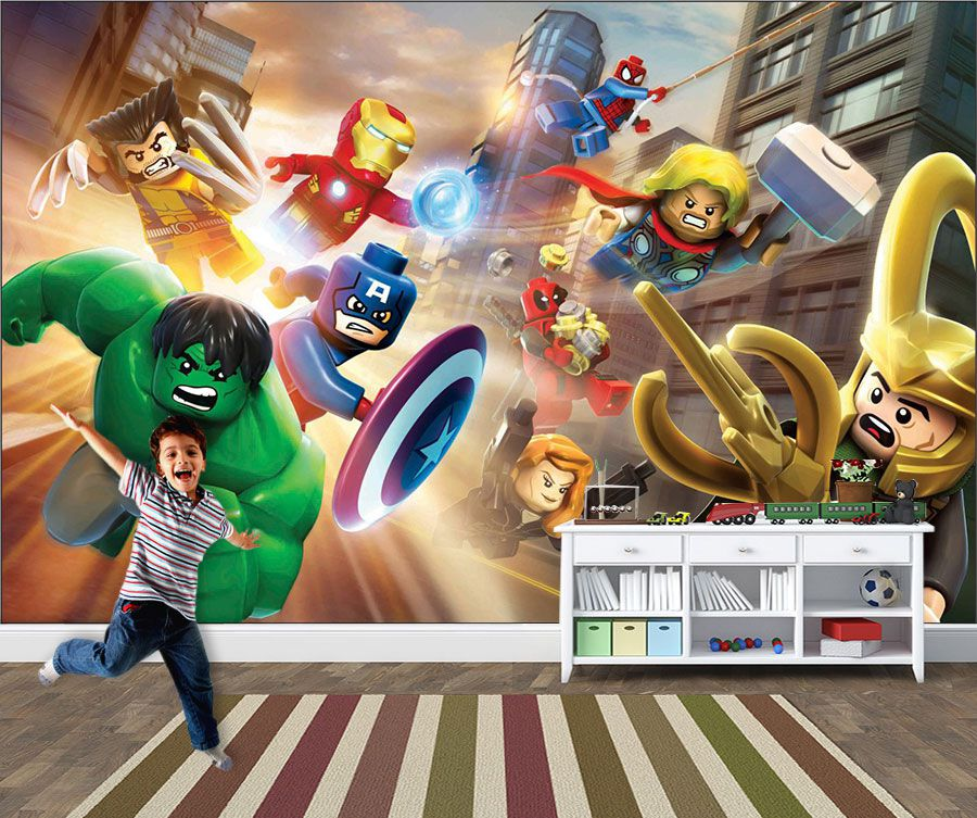 Papel de Parede Infantil Super Heróis 0023 - Adesivos de Parede