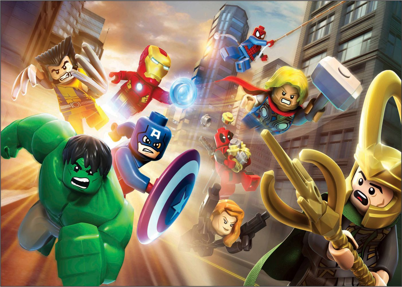 Papel de Parede Infantil Super Heróis 0023 - Adesivos de Parede  - Paredes Decoradas