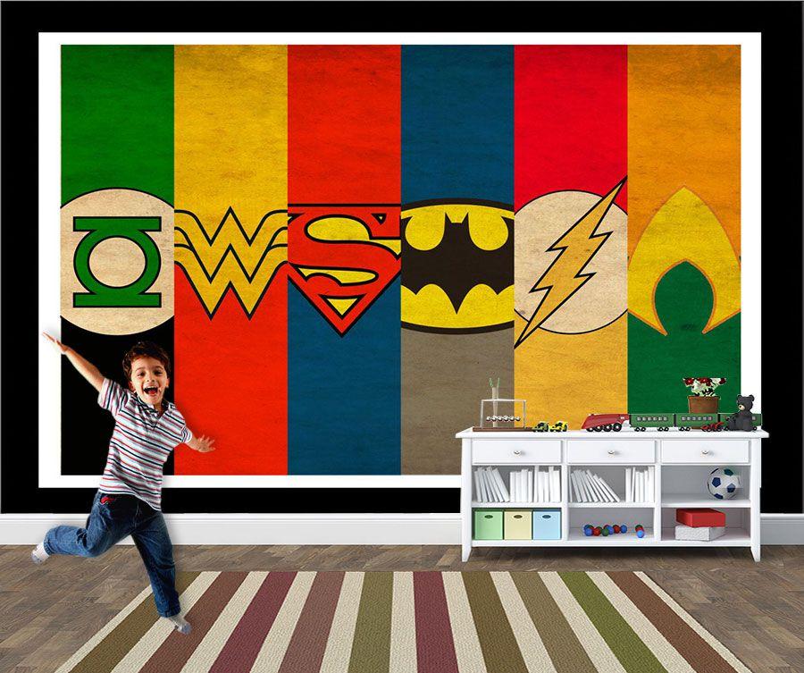 Papel de Parede Infantil Super Heróis 0024 - Adesivos de Parede
