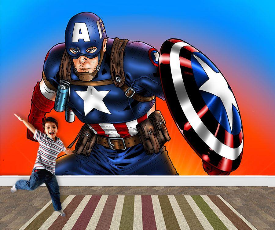 Papel de Parede Infantil Super Heróis 0025 - Adesivos de Parede  - Paredes Decoradas