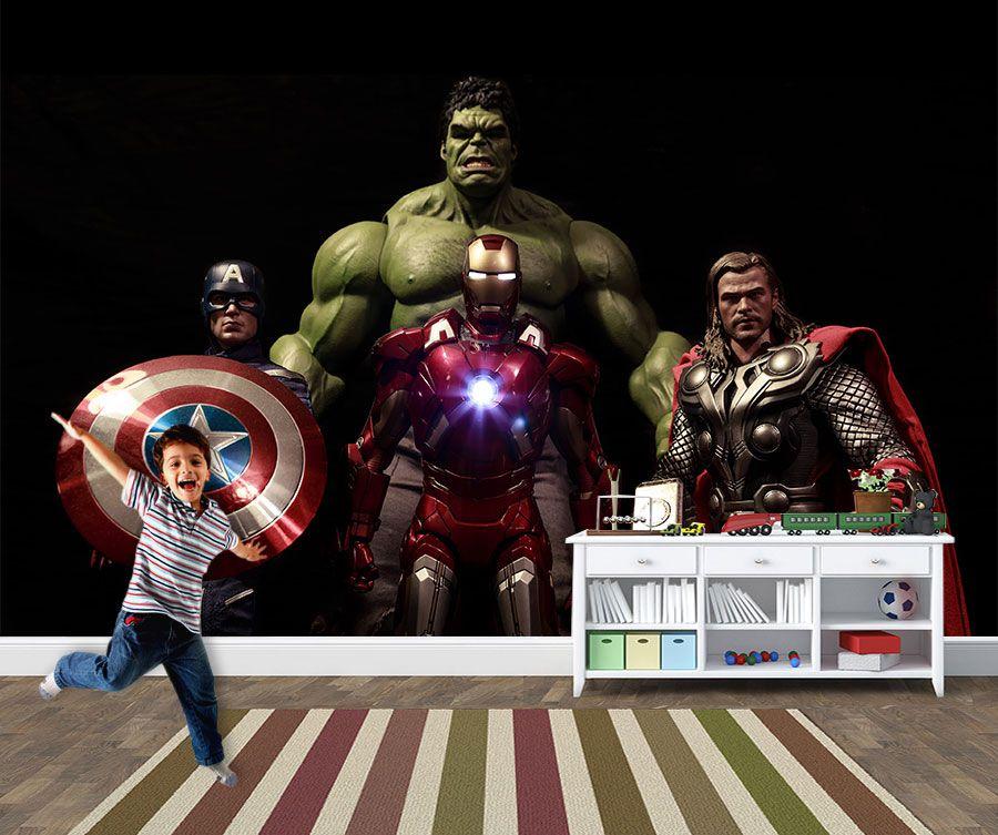 Papel de Parede Infantil Super Heróis 0026 - Adesivos de Parede  - Paredes Decoradas