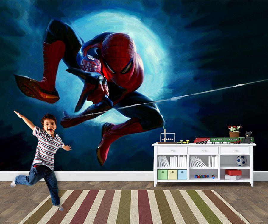 Papel de Parede Infantil Super Heróis 0027 - Adesivos de Parede