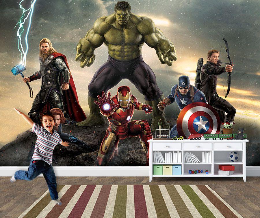 Papel de Parede Infantil Super Heróis 0031 - Adesivos de Parede