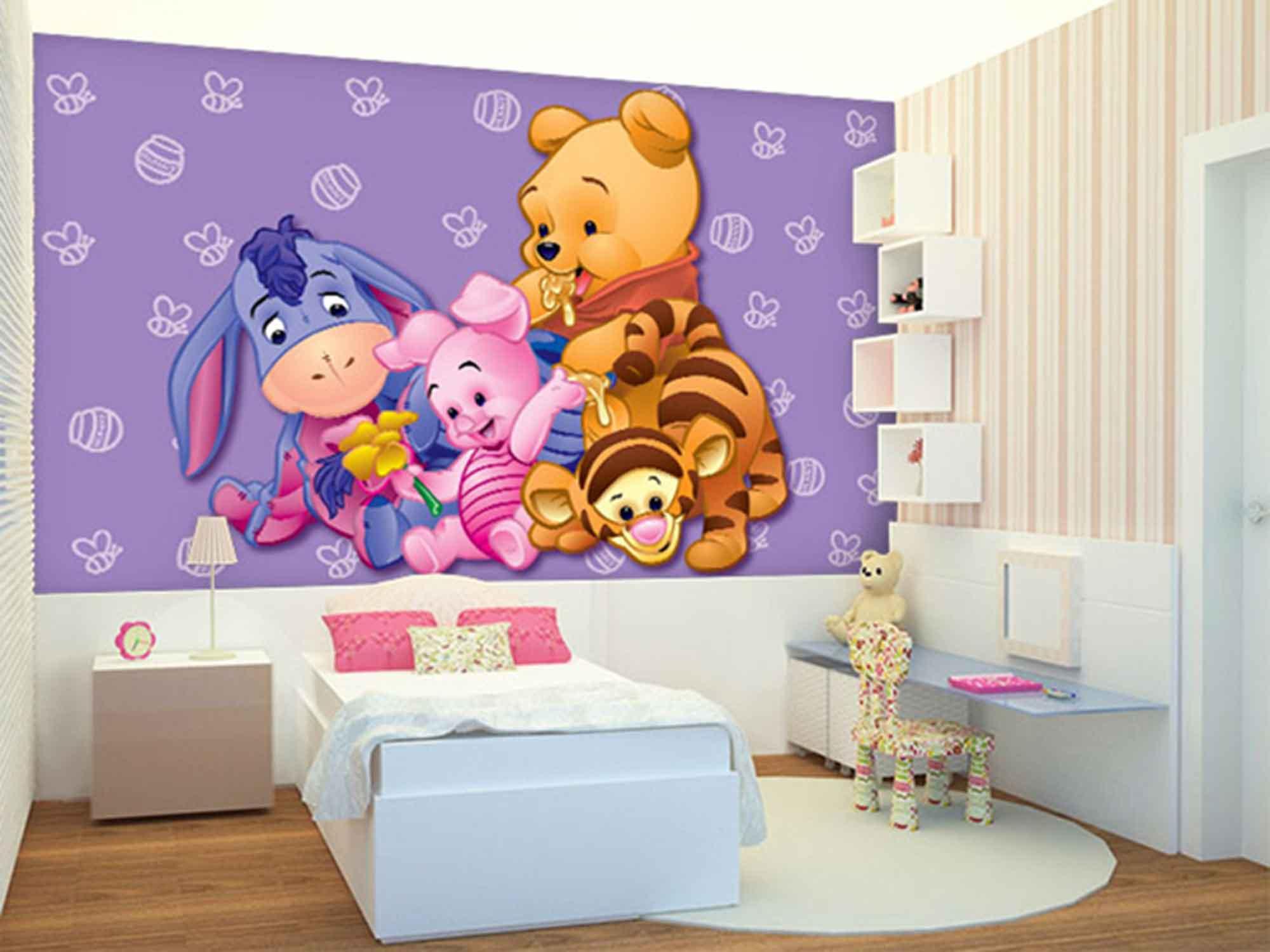 Papel de Parede Infantil Ursinho Pooh 0001
