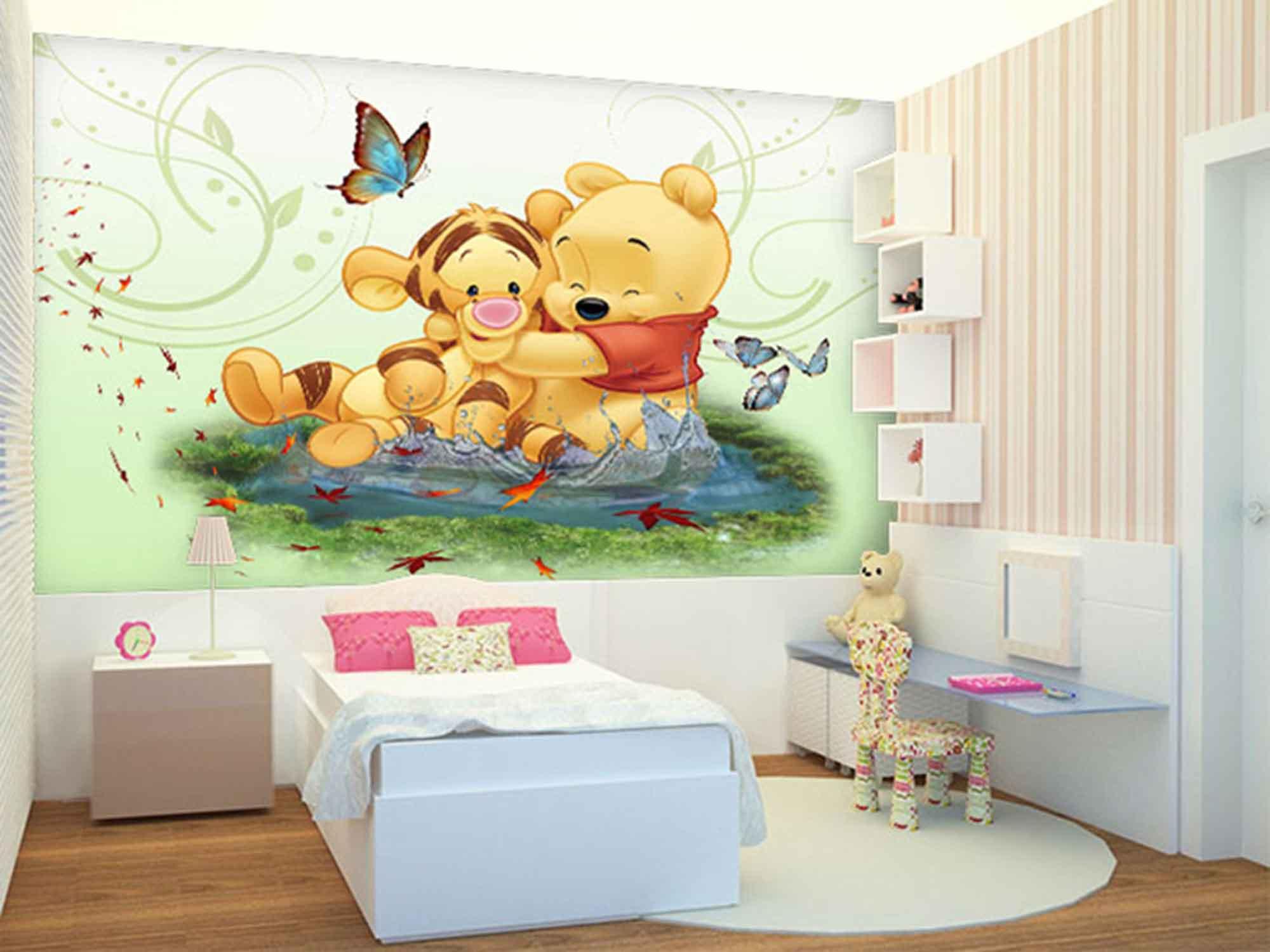 Papel de Parede Infantil Ursinho Pooh 0002