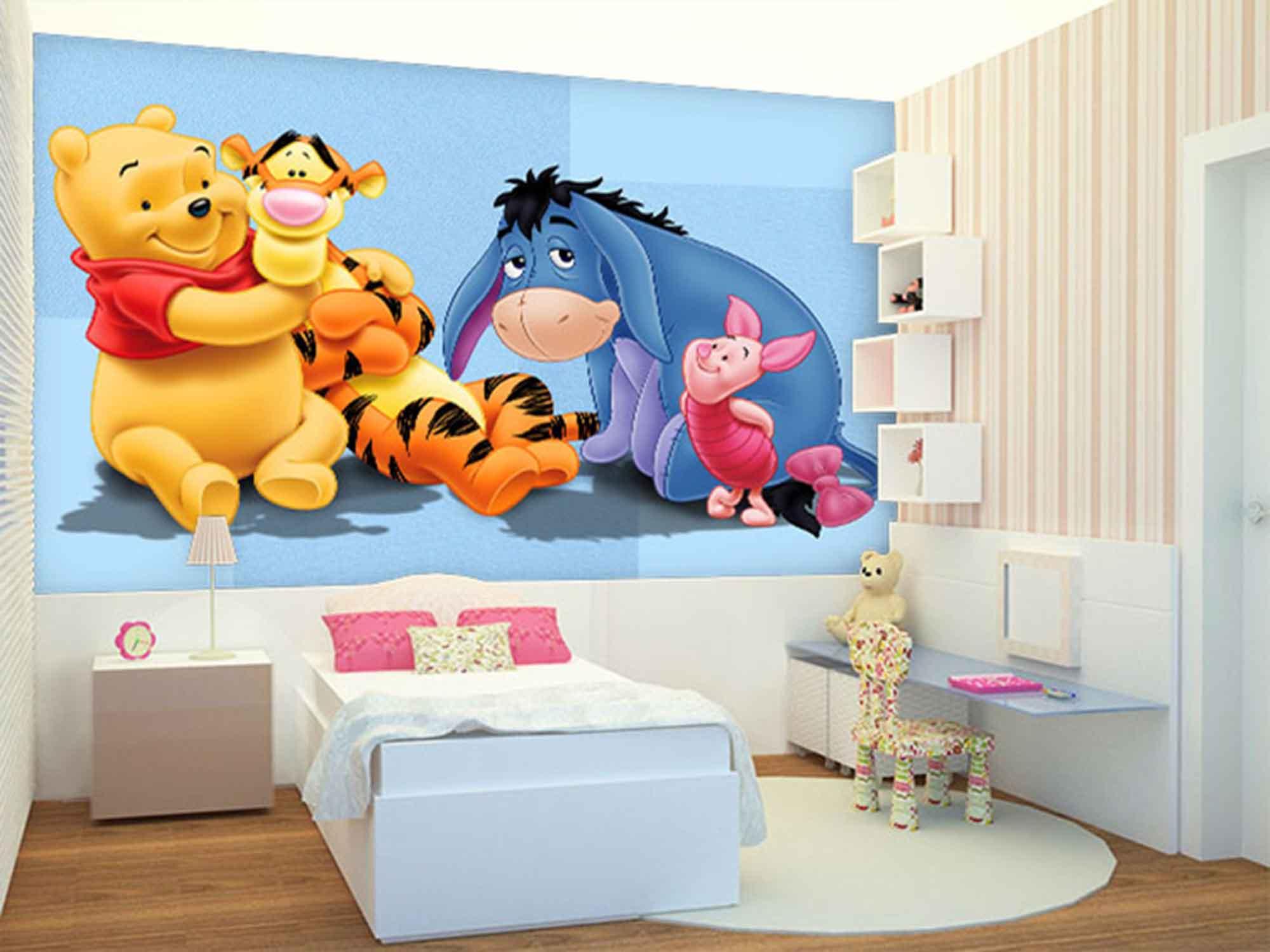 Papel de Parede Infantil Ursinho Pooh 0006