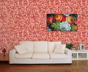 Papel de Parede Mosaico 0001 - Adesivos de Parede