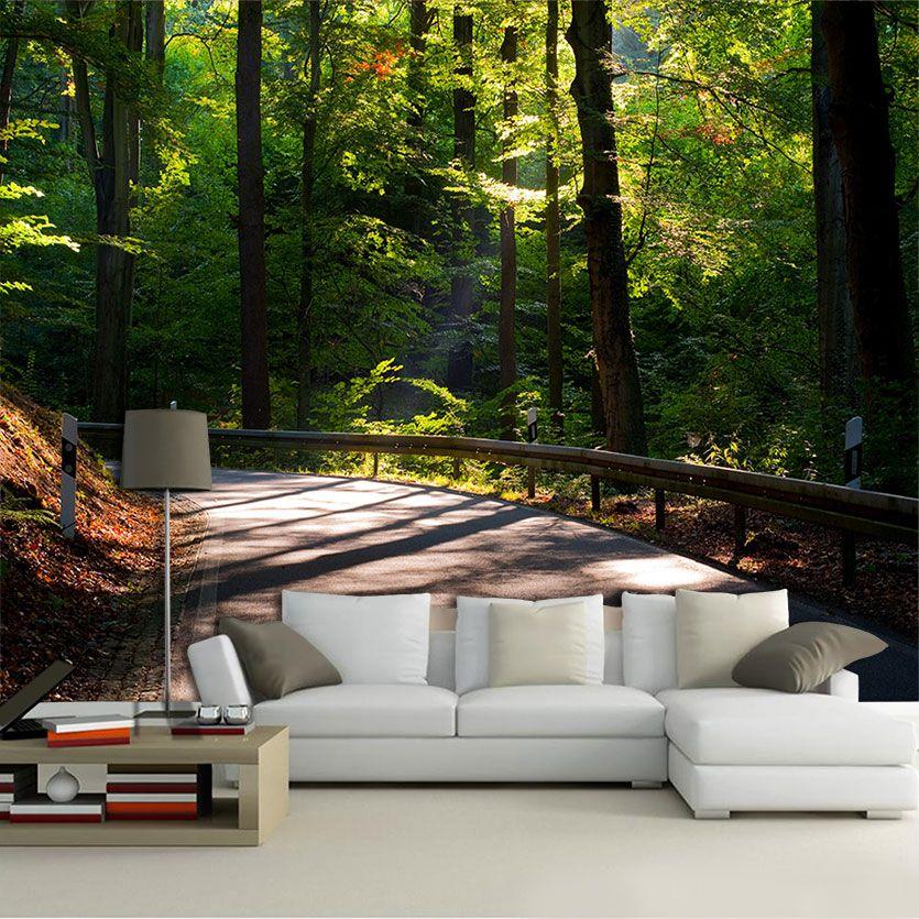 Papel de Parede Paisagens Floresta 0025 - Adesivo de Parede