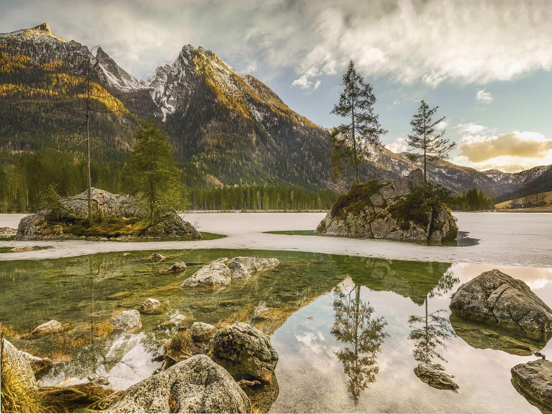 Papel de Parede Paisagens Montanhas 0002 - Adesivo de Parede   - Paredes Decoradas