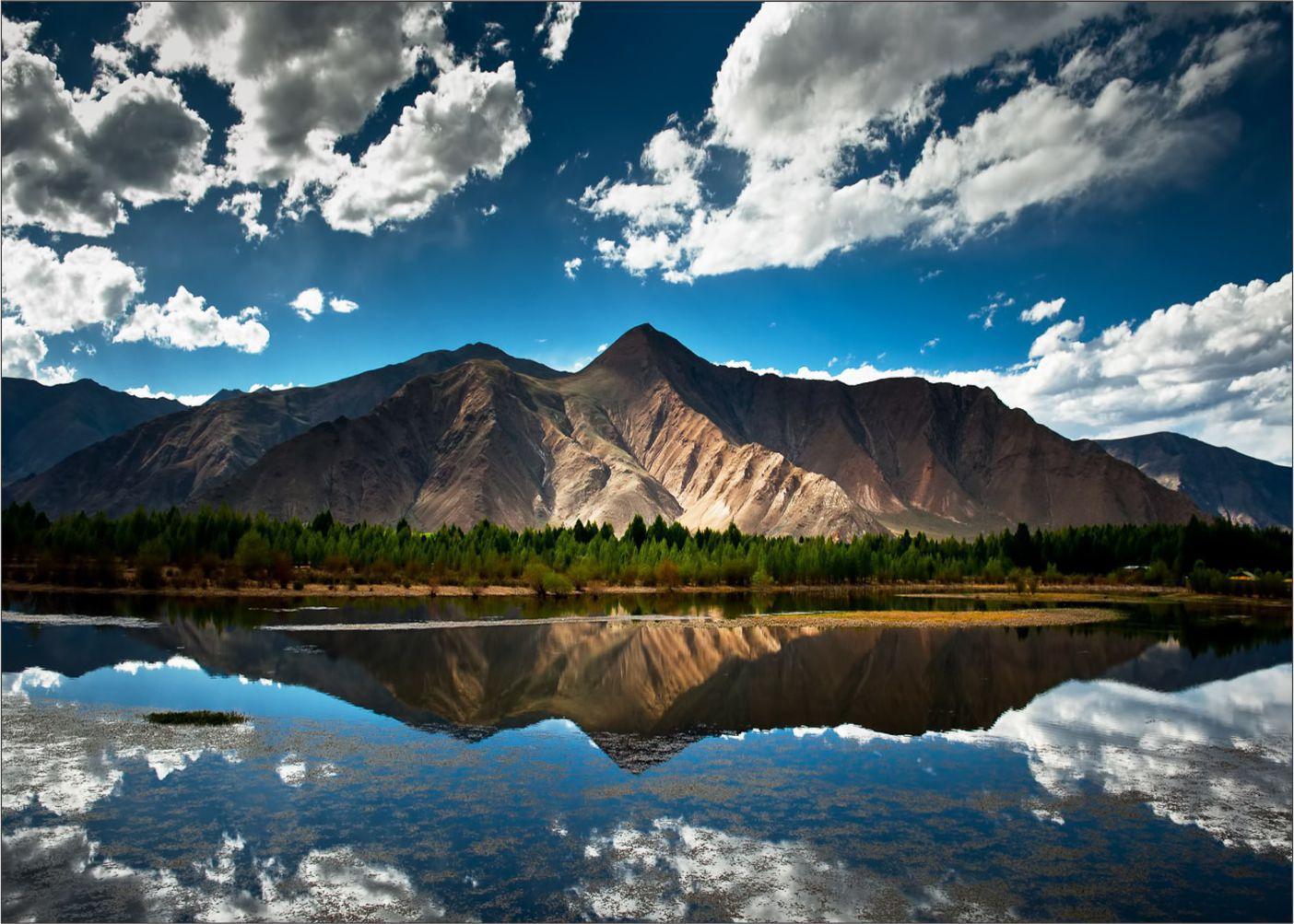 Papel de Parede Paisagens Montanhas 0019 - Adesivo de Parede   - Paredes Decoradas