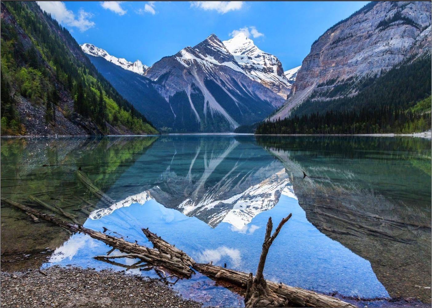 Papel de Parede Paisagens Montanhas 0020 - Adesivo de Parede   - Paredes Decoradas