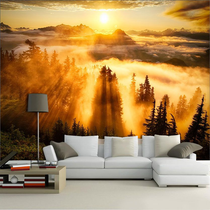 Papel de Parede Paisagens Por do Sol 0007 - Paredes Decoradas