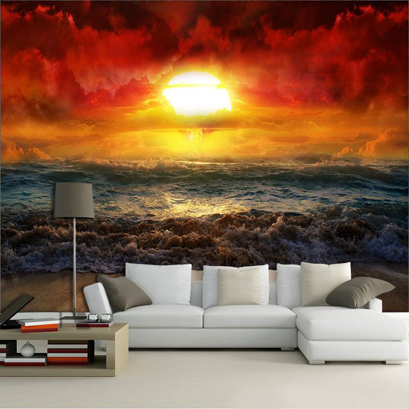 Papel de Parede Paisagens Por do Sol 0011  - Paredes Decoradas