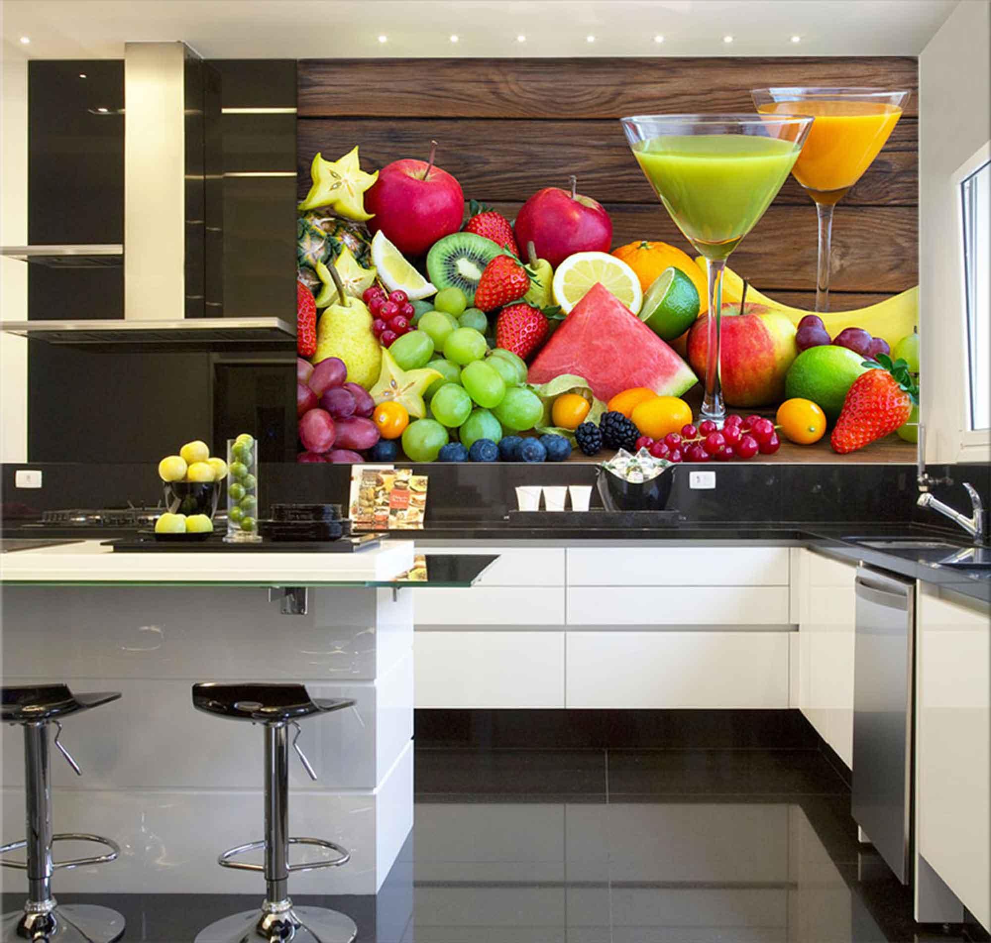 Papel De Parede Para Cozinha 0003 - Sobmedida: m²   - Paredes Decoradas