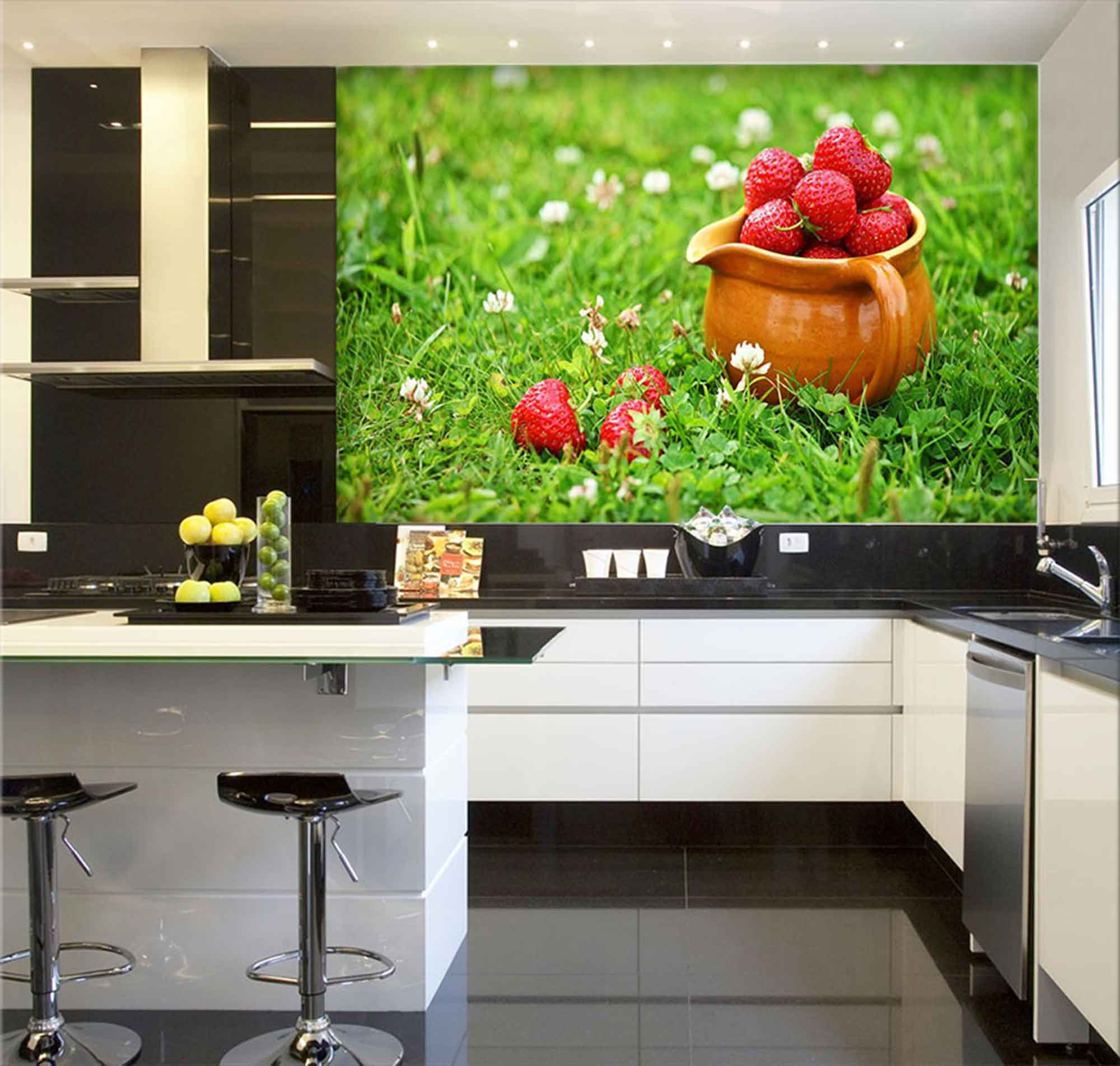 Papel De Parede Para Cozinha 0019 - Sobmedida: m²   - Paredes Decoradas