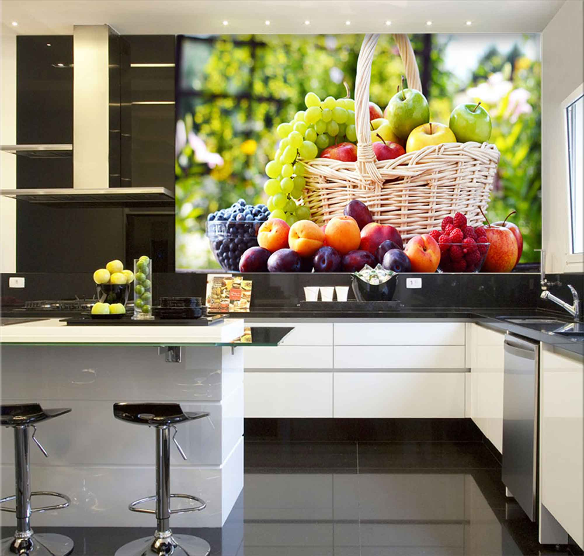 Papel De Parede Para Cozinha 0021 - Sobmedida: m²   - Paredes Decoradas