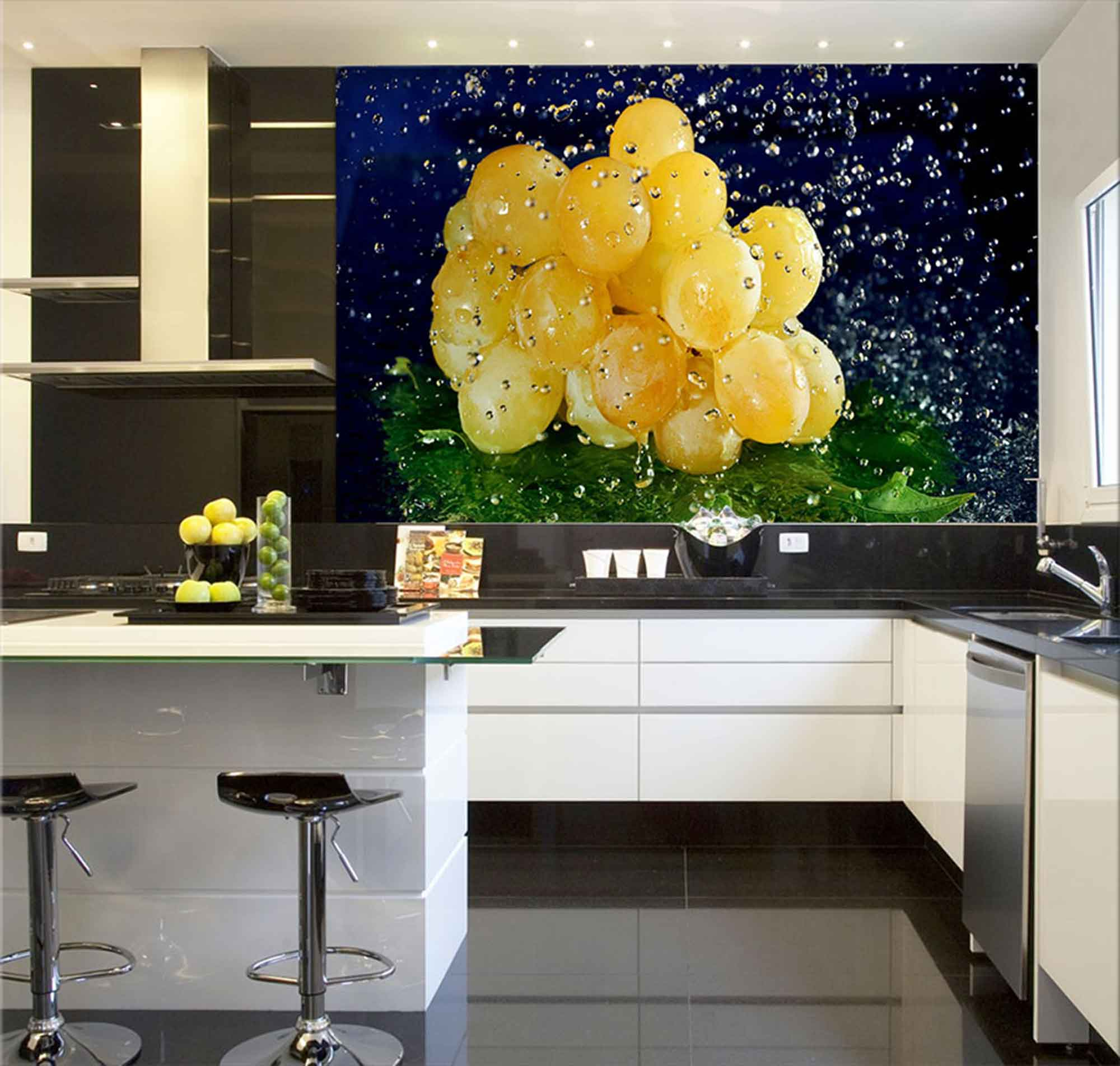 Papel De Parede Para Cozinha 0026 - Sobmedida: m²   - Paredes Decoradas